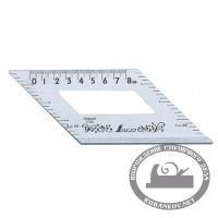 Шаблон угловой Shinwa, 172*62мм, c доп углом 45° и метр. шкалой, нерж.сталь