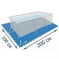 Мат-подложка для бассейна Intex 29081, 200 х 100 см, набор 8 шт (50 x 50 см)