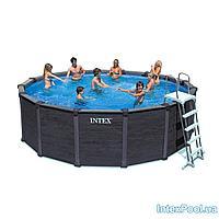 Каркасный бассейн Intex 28382 - 11, 478 х 124 см (4 500 л/ч, лестница, тент, подстилка)