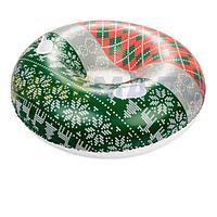 Одноместный надувной сани - тюбинг для катания Bestway 39060, 127 см, зеленый