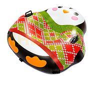 Одноместный надувной сани - тюбинг для катания Bestway 39062 Пингвин, 121 х 118 см