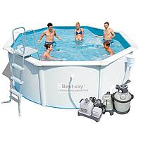 Бассейн каркасный Bestway 56292 - 10. Hydrium Poseidon Pool - 366 х 122 см