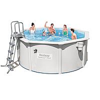Каркасный бассейн Bestway 56563 - 1, 300 x 120 см (скиммер, лестница, подстилка)