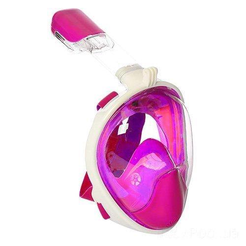 Маска для плавания Bambi 1639, L (14+) 59 см, розовая