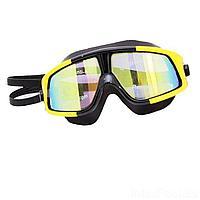 Очки для плавания Bambi D25725, размер M, (6+), обхват головы ≈ 52 см, желтые