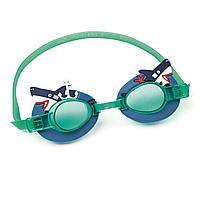 Детские очки для плавания Bestway 21080 Акула, размер S, (3+), обхват головы ≈ 50 см
