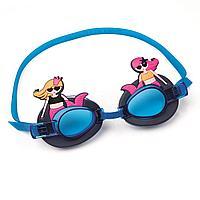 Детские очки для плавания Bestway 21080 Русалка, размер S, (3+), обхват головы ≈ 50 см