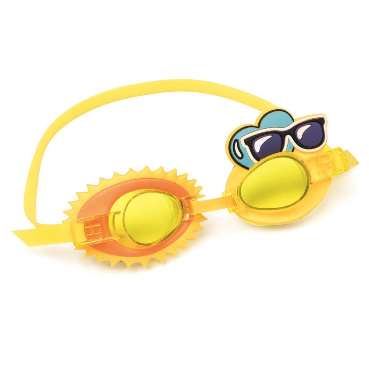Детские очки для плавания Bestway 21080 Солнце, размер S, (3+), обхват головы ≈ 50 см