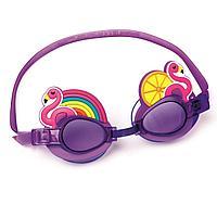 Детские очки для плавания Bestway 21080 Фламинго, размер S, (3+), обхват головы ≈ 50 см
