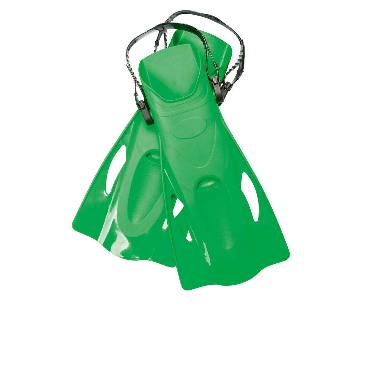 Ласты для плавания Bestway 27027, размер M, 37 (EU), под стопу ≈ 24 см, зеленые