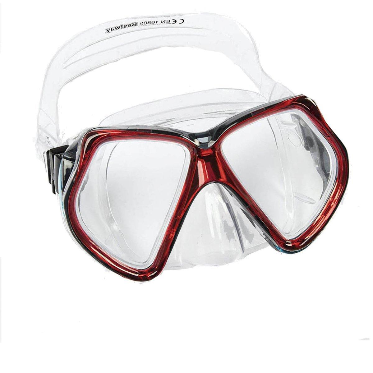 Маска для плавания Bestway 22016, размер XXL, (14+), обхват головы ≈ 59 см, красные