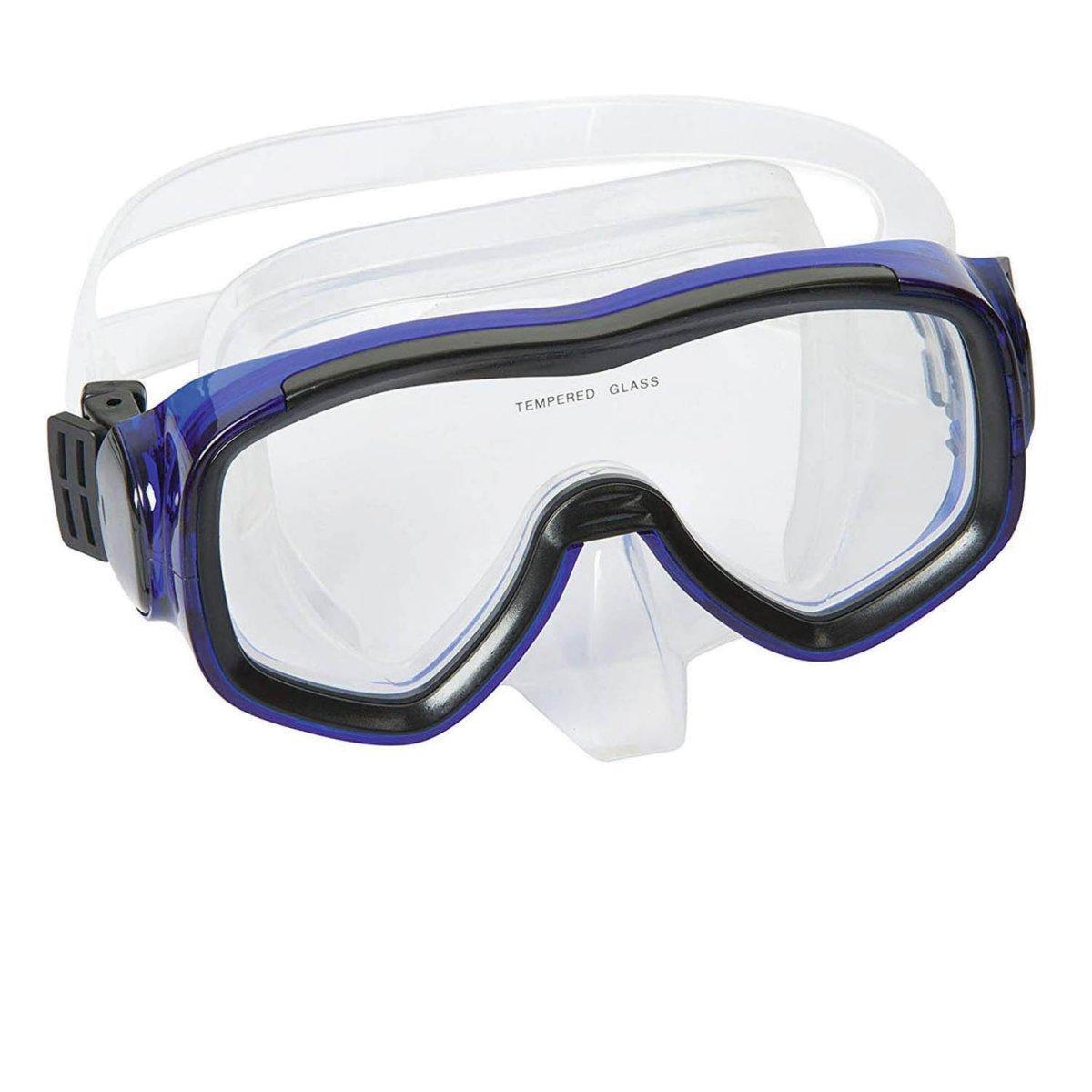 Маска для плавания Bestway 22018, размер XXL, (14+), обхват головы ≈ 59 см, синий