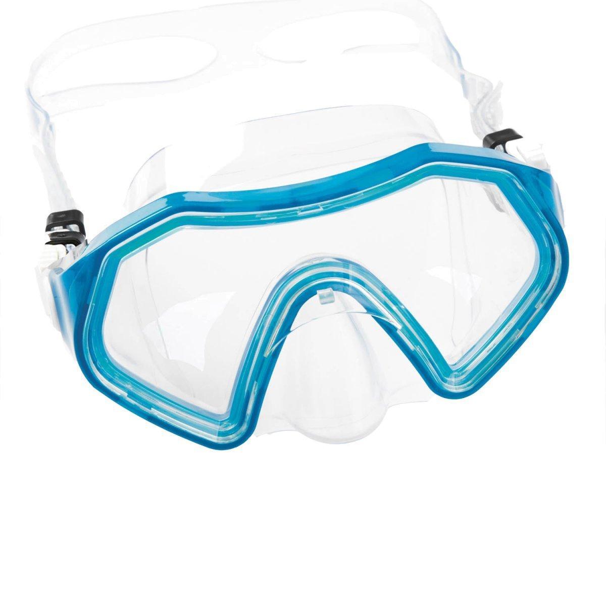Маска для плавания Bestway 22049, размер M (6+), обхват головы ≈ 52 см, синяя