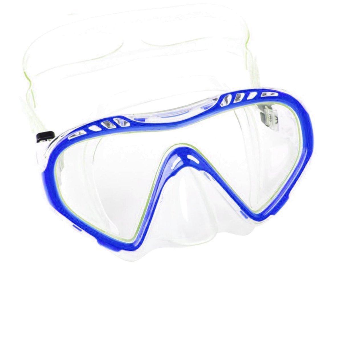 Маска для плавания Bestway 22050, размер M (6+), обхват головы ≈ 52 см, голубая
