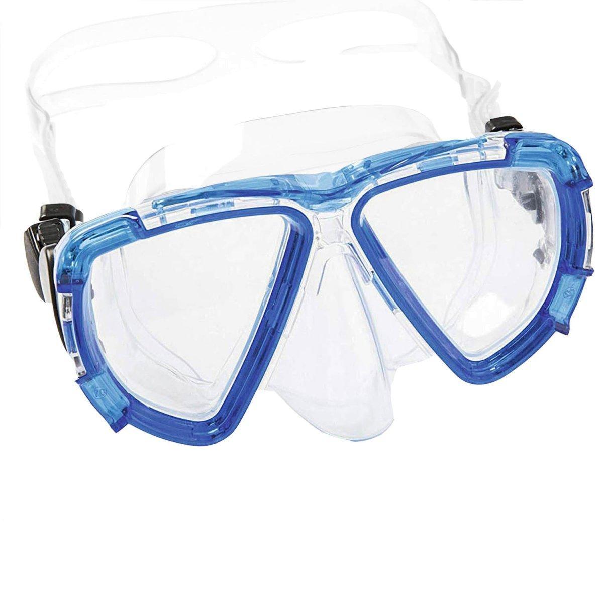 Маска для плавания Bestway 22052, размер XL, (10+), обхват головы ≈ 56 см, синяя