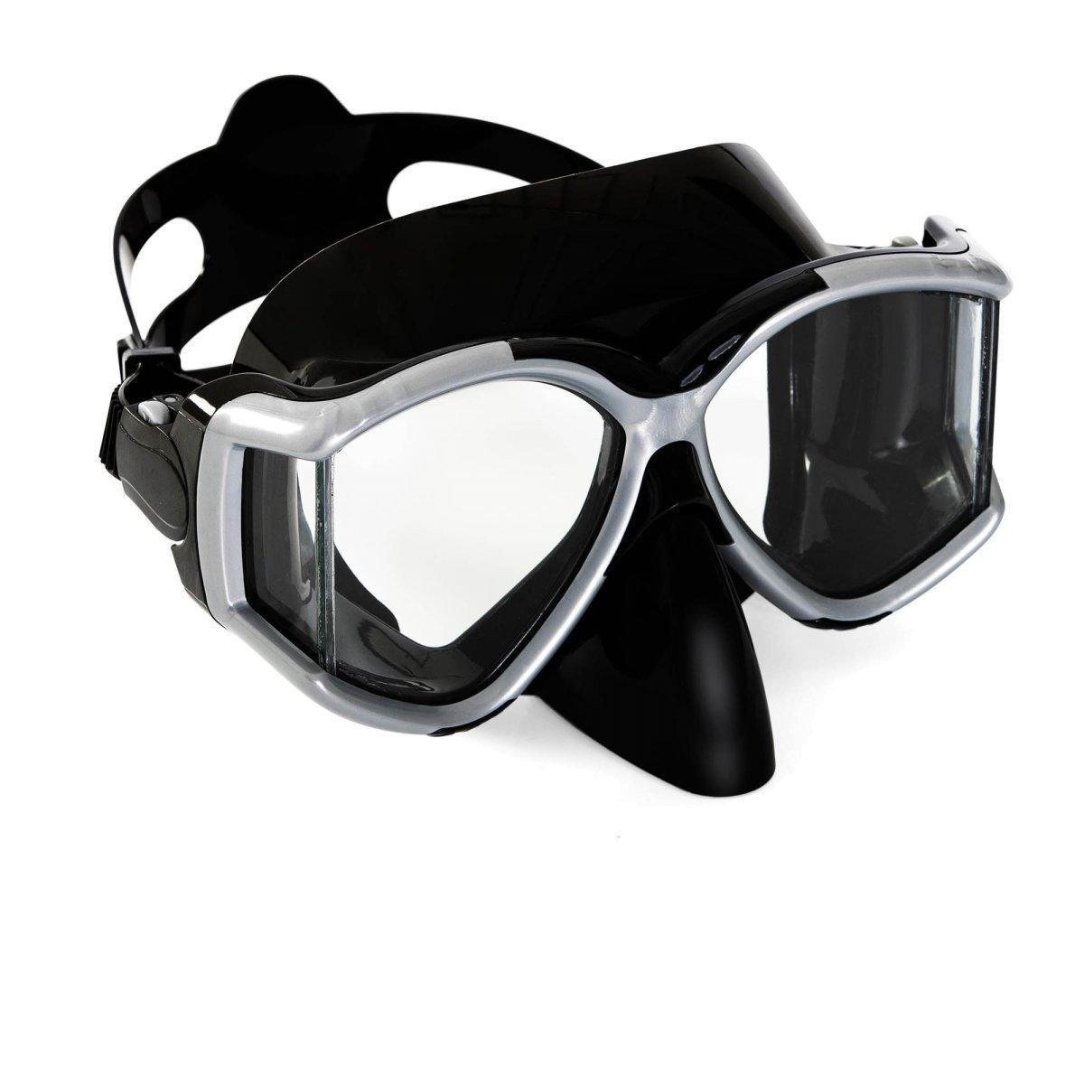 Маска для плавания Bestway 22060, размер XL, (10+), обхват голов ≈ 56 см, черная