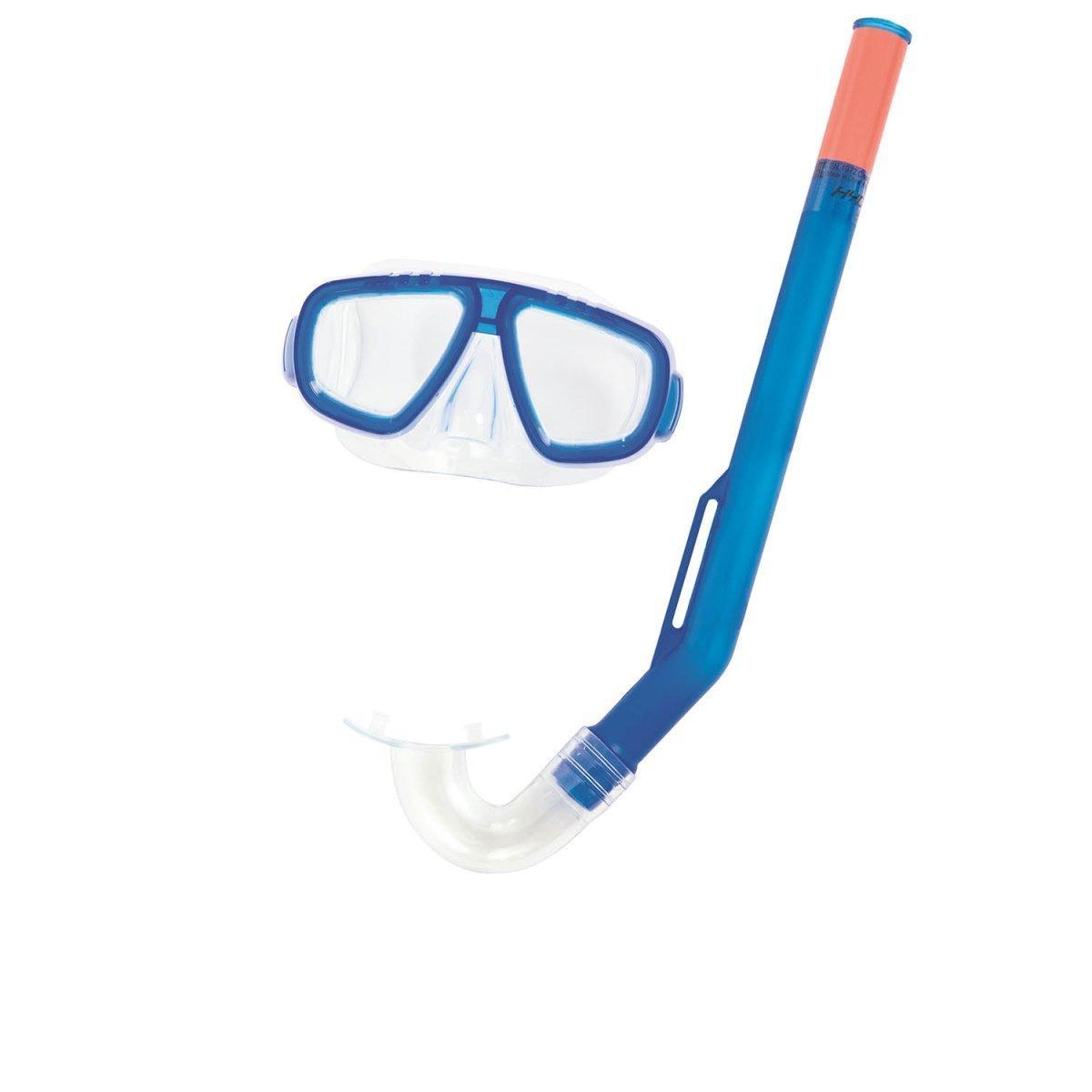 Набор 2 в 1 для ныряния Bestway 24018 (маска: размер S, (3+), обхват головы ≈ 50 см, трубка), синий