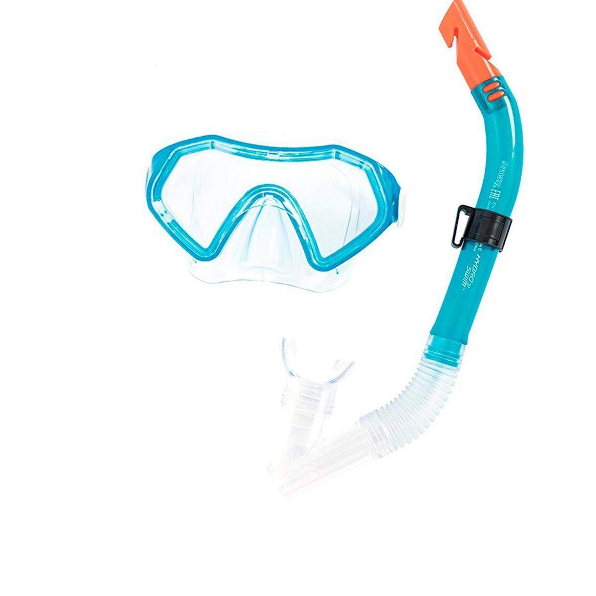 Набор 2 в 1 для ныряния Bestway 24025 (маска: размер M, (6+), обхват головы ≈ 52 см, трубка), голубой