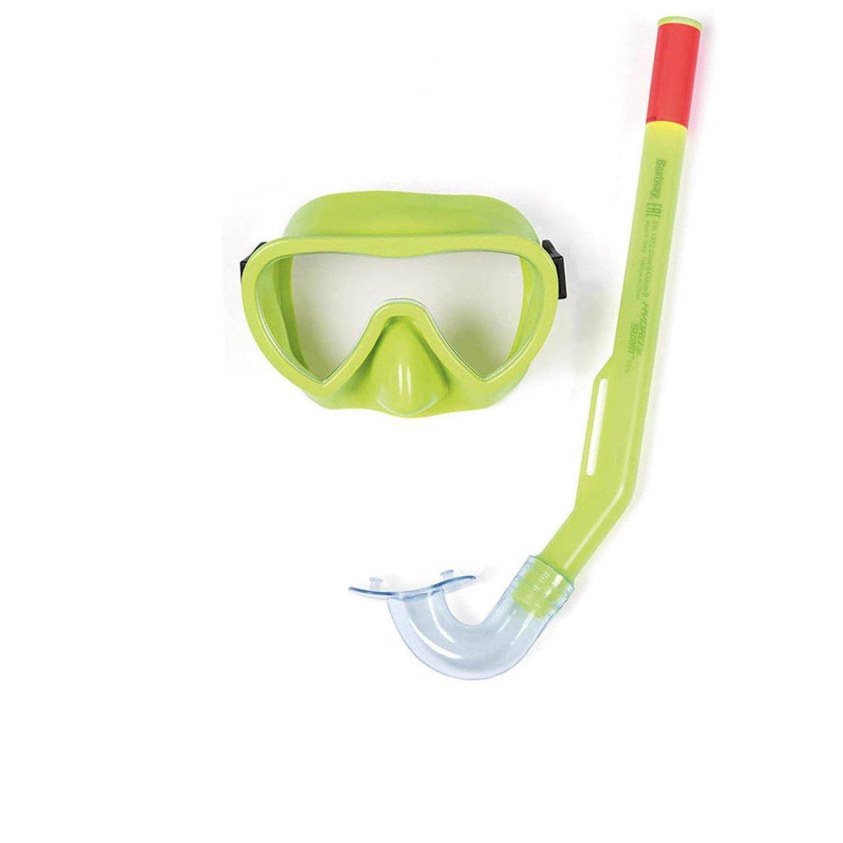 Набор 2 в 1 для ныряния Bestway 24036 (маска: размер S, (3+), обхват головы ≈ 50 см, трубка), зеленый