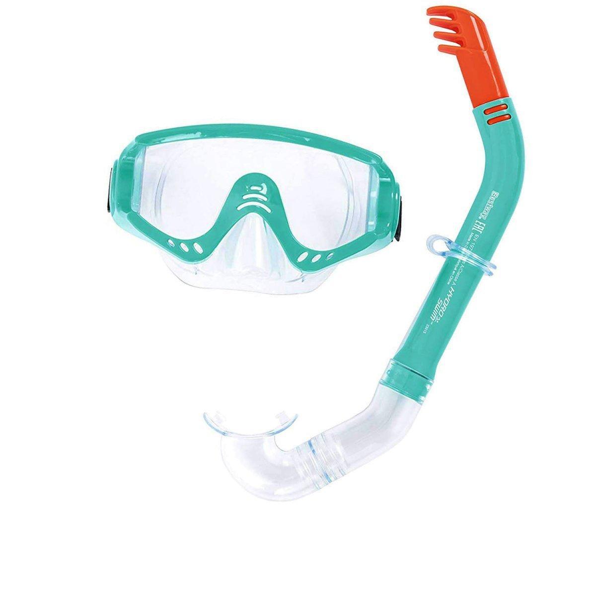 Набор 2 в 1 для плавания Bestway 24020 (маска: размер XL, (10+), обхват головы ≈ 56 см, трубка), зеленый
