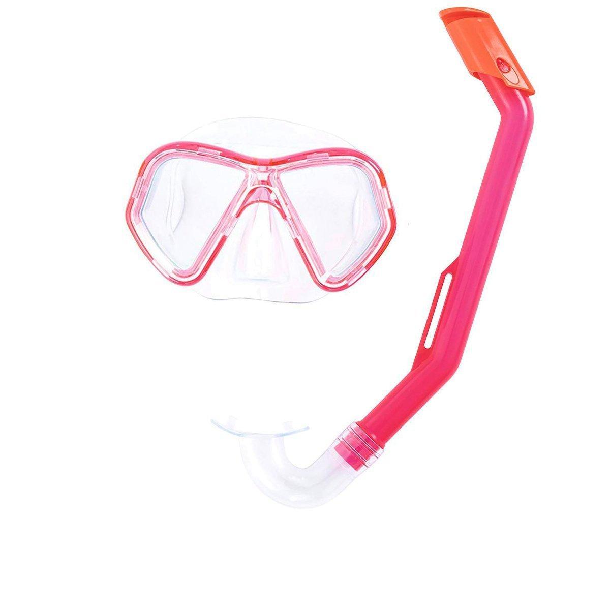 Набор 2 в 1 для плавания Bestway 24023 (маска: размер S, (3+), обхват головы ≈ 50 см, трубка), розовый