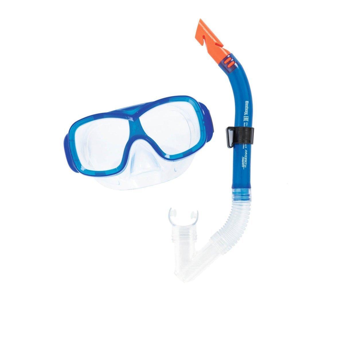 Набор 2 в 1 для плавания Bestway 24032 (маска: размер M, (6+), обхват головы ≈ 52 см, трубка), синий