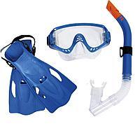 Набор 3 в 1 для плавания Bestway 25020 (маска: размер XL, (10+), обхват головы 56 см, трубка, ласты: размер XXL, 42 (EU), под стопу 26.5 см),