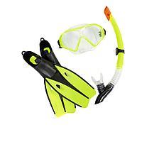 Набор 3 в 1 для плавания Bestway 25021 (маска: размер M, (6+), обхват головы 52 см, трубка, ласты: размер L, 37 (EU), под стопу 24 см), зеленый