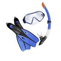 Набор 3 в 1 для плавания Bestway 25023 (маска: размер XL, (10+), обхват головы 56 см, трубка, ласты: размер XXL, 42 (EU), под стопу 26.5 см),