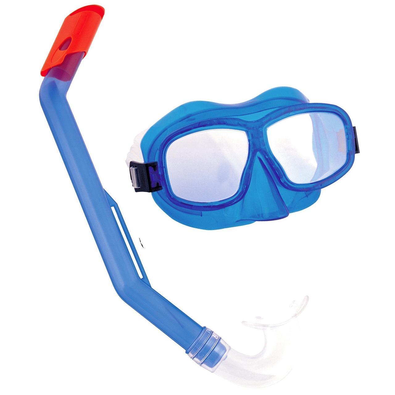 Набор для плавания Bestway 24016, маска, трубка, синий, от 8 лет