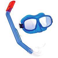 Набор для плавания Bestway 24016, маска, трубка, синий, от 8 лет, фото 1