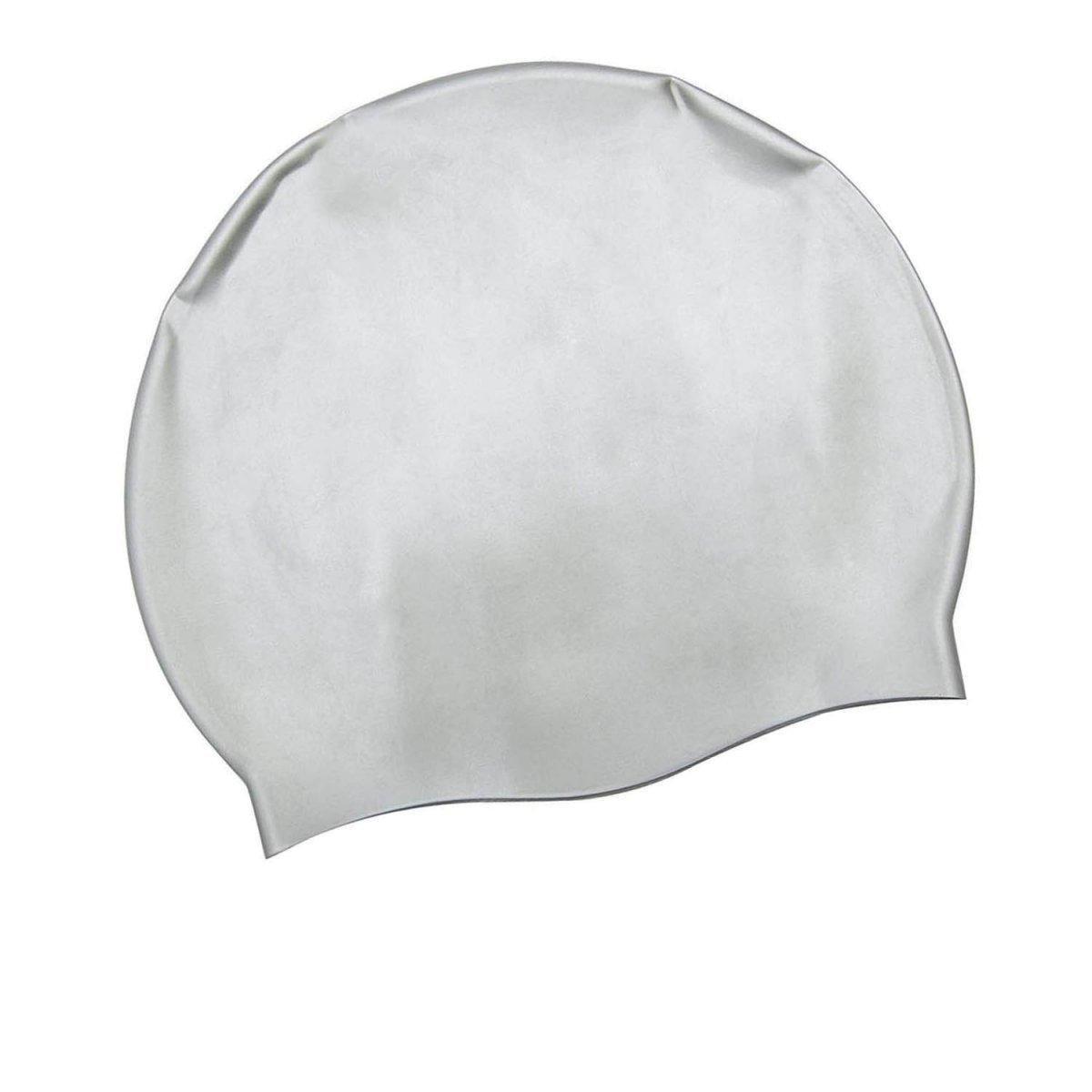 Шапочка для плавания Bestway 26006, универсальная, обхват головы ≈ 56 см, (19 х 22 см), серая