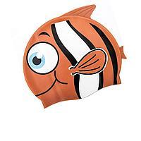 Шапочка для плавания Bestway 26025 Рыбка, размер S, (3+), обхват головы ≈ 50 см, (21 х 17, 5 см), оранжевый, фото 1