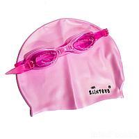 Набор 2 в 1 для плавания IntexPool D25637 (очки: размер M, (6+), обхват головы ≈ 52 см, шапочка 22 х 19 см), розовый