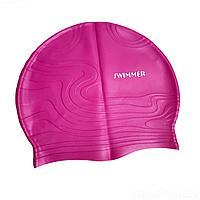 Шапочка для плавания IntexPool MSW013, универсальная, обхват головы ≈ 56 см, (19 х 22 см), розовая, фото 1
