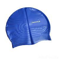 Шапочка для плавания IntexPool MSW013, универсальная, обхват головы ≈ 56 см, (19 х 22 см), синяя