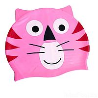 Шапочка для плавания IntexPool MSW018, универсальная, обхват головы ≈ 50 см, (21 х 18 см), розовая
