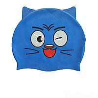 Шапочка для плавания IntexPool MSW018, универсальная, обхват головы ≈ 50 см, (21 х 18 см), синяя