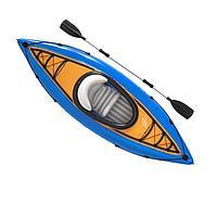 Одноместная надувная байдарка (каяк) Bestway 65115 Cove Champion, 275 x 81 см, с веслами, синяя