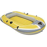 Одноместная надувная лодка Bestway 61064 Hydro - Force Raft, желтая, 228 х 121 х 36 см