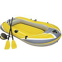 Полутораместная надувная лодка Bestway 61083 Hydro - Force Raft, желтая, 228 х 121 см, с веслами и насосом, фото 1