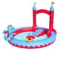 Надувной игровой центр Bestway 53037 Замок Дракона, 221 х 150 см, с игрушками и фонтаном