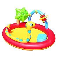 Надувной игровой центр Bestway 53026 Место развлечений, 193 х 150 х 89 см, с игрушками и фонтаном