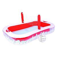 Архивный. Детский надувной семейный бассейн Bestway 54125, с волейбольной сеткой, 254 х 168 х 97 см