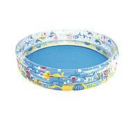 Детский надувной бассейн Bestway 51004 Подводный мир, 152 х 30 см