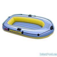 Полутораместная надувная лодка Intex 58347 Pacesetter 200 Set, 196 х 102 х 33 см, с веслами и насосом, фото 1