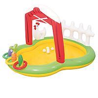 Надувной игровой центр Bestway 53065 Ферма, 175 х 147 х 102 см, с надувными кольцами, игрушками и шариками 5 шт