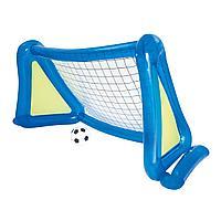 Детские надувные ворота для футбола Bestway 52215 с брызгайлкой и мячем, 254 х 112 х 130 см