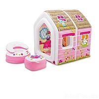 Надувной игровой домик  Intex 48635 Princess Play House124 х 109 х 122 см, с креслами