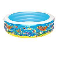 Детский надувной бассейн Bestway 51122 Аквариум, 196 х 53 см